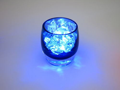6 Blue Glass Candles Holders