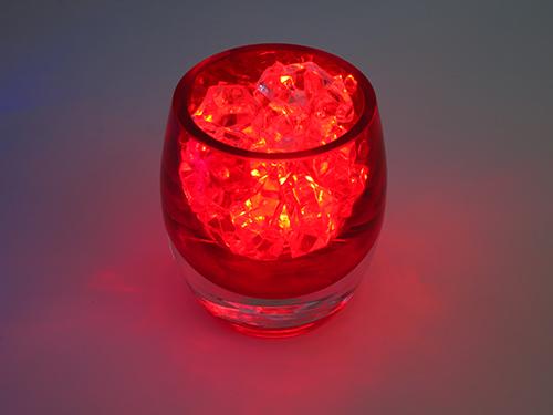 6 red glass candle holders. Black Bedroom Furniture Sets. Home Design Ideas