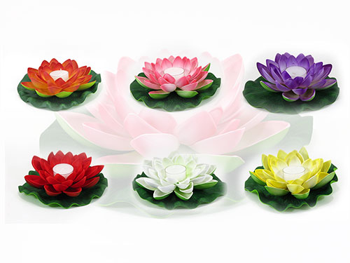 6 mixed floating lotus flower candles mightylinksfo